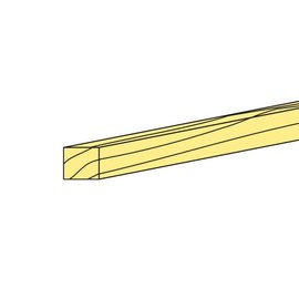 Dennenhout Ligger 1000x6x6mm