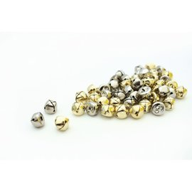 Belletjes 17mm - Goud en zilver (10 st)
