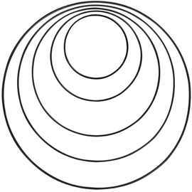 Rayher Set metalen dromenvanger ringen - Zwart
