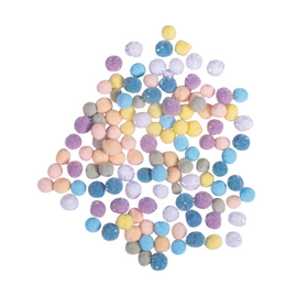 Rayher Pompon mix, 7mm ø, pastel, 120 stuks