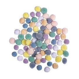 Rayher Pompon mix, 15mm ø, pastel, 80 stuks