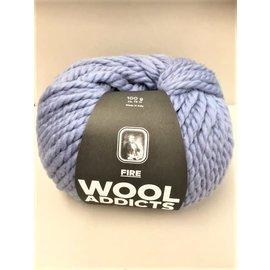 Lang Yarns Wooladdicts FIRE 0021 blauw bad 71544 - 100g.