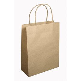 Rayher Papieren zak met handvat, FSC 100%, natuur