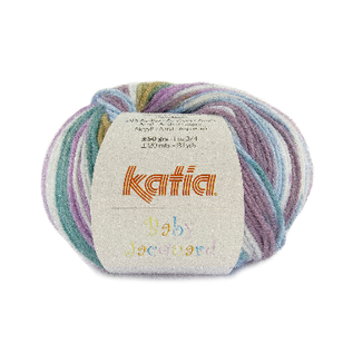 Katia BABY JACQUARD 95 Paars-Groen bad 36590