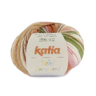 Katia BABY JACQUARD 94 Roestbruin-Bleekrood-Groen bad 36589