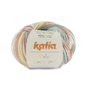Katia BABY JACQUARD 93 Licht turquoise-Licht zalmroze-Geelgroen bad 36588