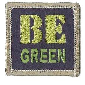 Applicatie Be Green ca. 4,5x4,5cm