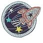 Applicatie Spaceship ca. 4x5cm