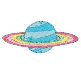 Applicatie Saturn ca. 5,5x2,3cm