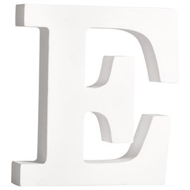 """Rayher MDF Letter 11cm """"E"""" Wit"""