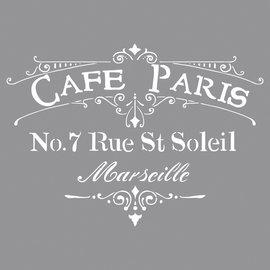 Rayher Sjabloon Cafe Paris, 30,5x30,5cm