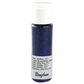 Rayher Glitter, ultrafijn, PET, flacon 20 ml, Saffierblauw