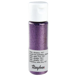 Rayher Glitter, ultrafijn, PET, flacon 20 ml, Lavendel
