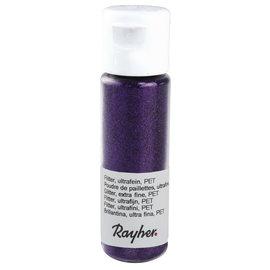 Rayher Glitter, ultrafijn, PET, flacon 20 ml, Paars fluweel