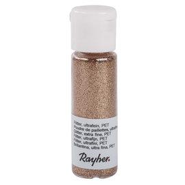 Glitter, ultrafijn, PET, flacon 20 ml, Koper
