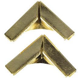 Rayher Metalen hoeken voor boekomslagen, goud, 4 stuks 14x14mm