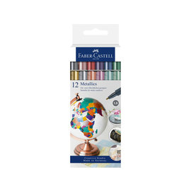 Faber-Castell Marker Faber-Castell Metallic kleur assorti 12 stuks