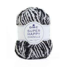 DMC Super Happy Chenille 300gr zwart-wit 151 bad SP002