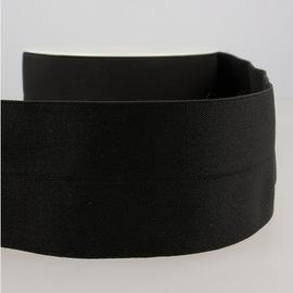 rekker 6cm voorgevouwen 060 zwart per meter