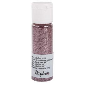 Rayher Glitter, ultrafijn, PET, flacon 20 ml, Roze