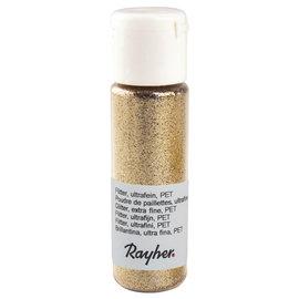 Rayher Glitter, ultrafijn, PET, flacon 20 ml, Goud