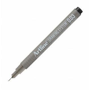 ARTLINE ARTLINE Drawing System Permanent inkt 0.03mm-Black