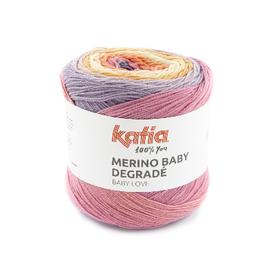 Katia MERINO BABY DEGRADÉ 300 Lila-Licht bruin-Bleekrood bad 42132