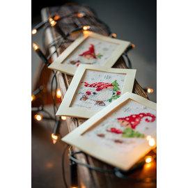 Wenskaart kit Kerstkabouters set van 3