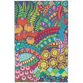 Pencil Works Kleuren op nummer FLOWERS POSTER