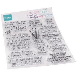 Marianne design Clear stamp Creatieve groetjes