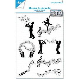 JOY! Joy! stempel Muziek in de lucht