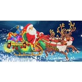 Diamond Painting Crystal Art Card® Santa's Sleigh