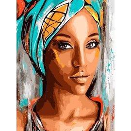 Schilderen op nummer Oriental Beauty (40x50 cm)