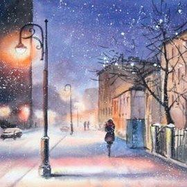Schilderen op nummer Evening Snowstorm (40x50 cm)