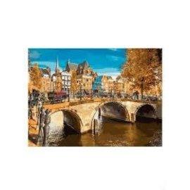 Schilderen op nummer Canal in Amsterdam (40x50cm)