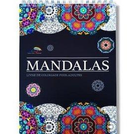 Kleurboek voor volwassenen 30 afbeeldingen Mandala's wit