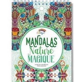 Kleurboek voor volwassenen 30 afb. Mandalas Nature Magique wit