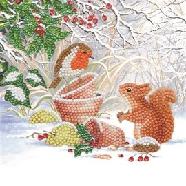 Crystal Card Kit ® Winter Friends (partial, 18x18 cm)