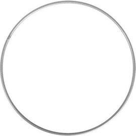 Metalen dromenvanger ring  70cm zilver