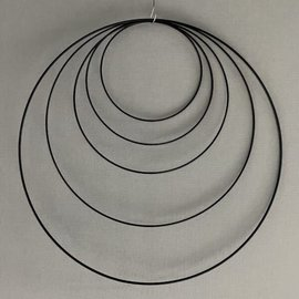Metalen dromenvanger ring  90cm - Zwart