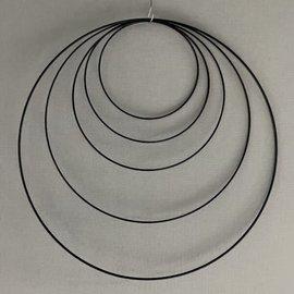 Metalen dromenvanger ring - 80cm - Zwart
