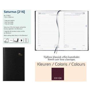 """Agenda 2022 """"Saturnus Lima"""" 1 dag per pagina, 13.3x20.8cm, 4-talig - Bordeaux"""