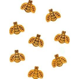 Knoopjes kleine bijen Embellishment - Charms, 20st.