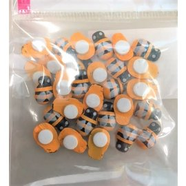 Houten bijen 14x19mm Zelfklevend 20st.