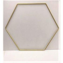 Metalen decoratie hexagon 35cm - 3mm GOUD