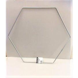Metalen decoratie hexagon 20cm - 3mm ZILVER