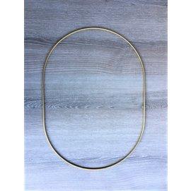 Metalen decoratie Ovaal 25cm - 3mm GOUD