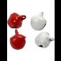 Belletjes, d: 8 mm, 50 assorti, rood/wit