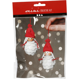Creative Min Kit Hangende Kerst Meisjes 8 cm 2 stuks