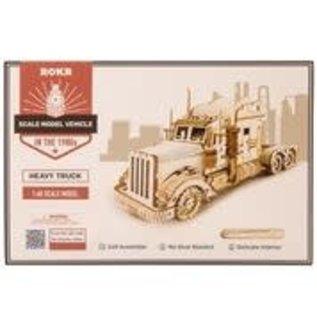 3D Houten Puzzel, Heavy Truck, 22,4×7,3×10 cm